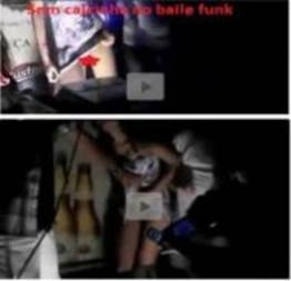 Flagra real, Novinhas sem calcinha dançando em um palco de baile funk (vídeo)