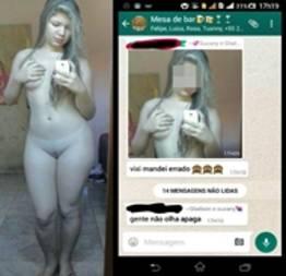 Novinha Mandou nudes para o namorado e caiu na net peladinha