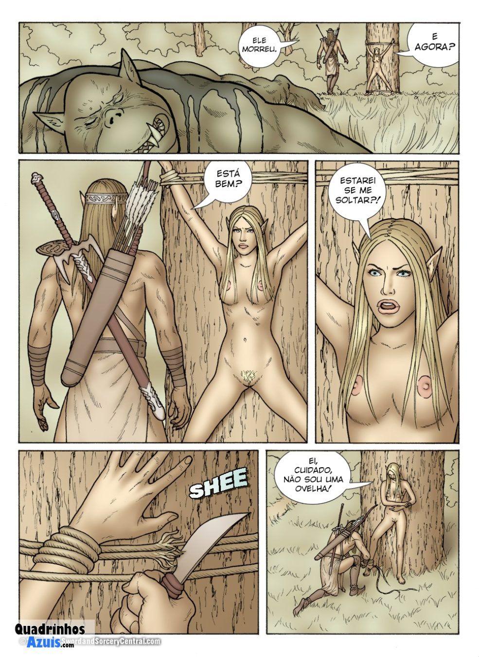 Princesa guerreira capturada por orcs
