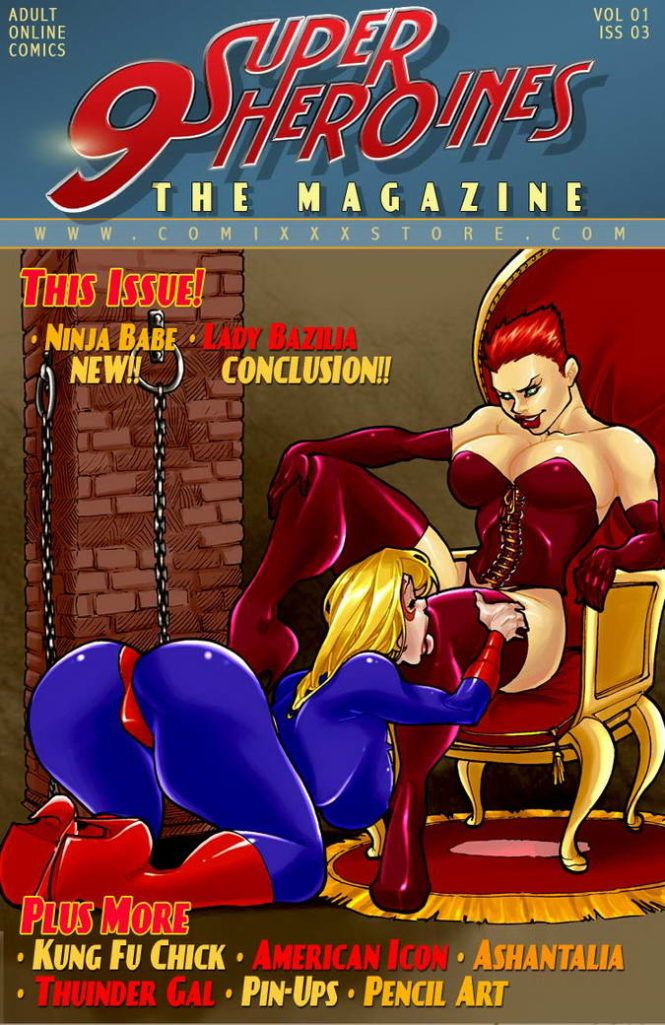 9 Super Heroines gostosas fodendo
