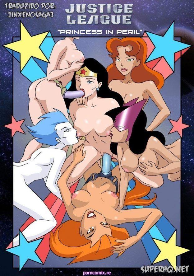 Orgia lésbica com a Mulher Maravilha