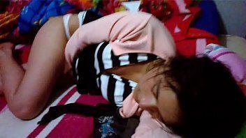 Novinha safada em seu quarto filmada