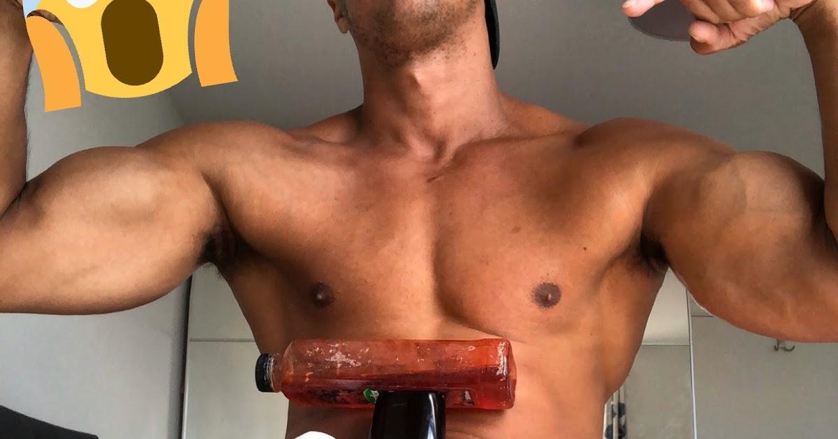 Diego Barros mitou mais uma vez ao equilibrar vidros de shampoo no Pau