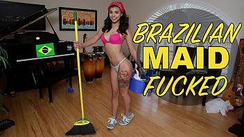 2015 - Gina Valentina - Brazillian Maid Sucks and Fucks
