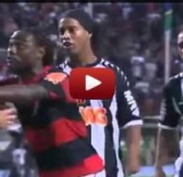 Agressão do zagueiro Réver em cáceres do Flamengo