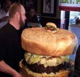 Você já viu o maior hambúrguer do Mundo?