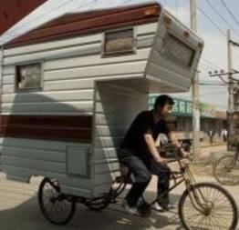 E se você pudesse carregar a sua casa em uma bicicleta?
