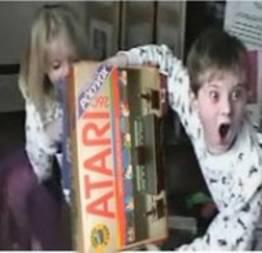 Reação ao ganhar um Nintendo Wii