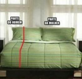 Dividindo a cama com uma mulher