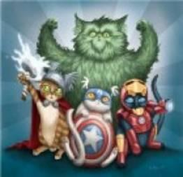 E se cães e gatos fosse super heróis?