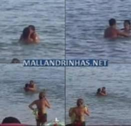 Casal fazendo sexo na praia em Rio das Ostras-RJ