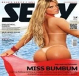 Making of Carine Felizardo nua pelada  para a Revista Sexy Fevereiro