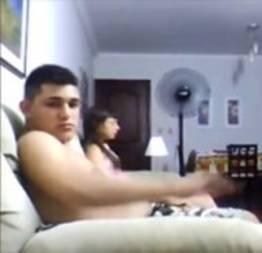 Nadia e o primo Fabiano