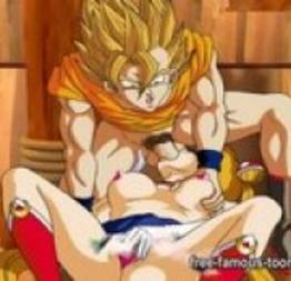 Dragon Ball Z porno - O poder do pau de goku