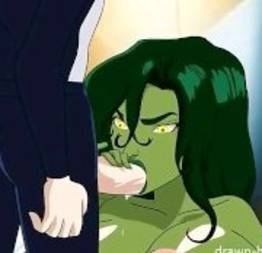 Hentai com a mulher hulk