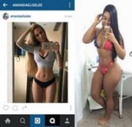Loiras e morena amigas das redes sociais em fotos peladas