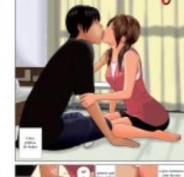 Treinando beijo com à mulher do amigo