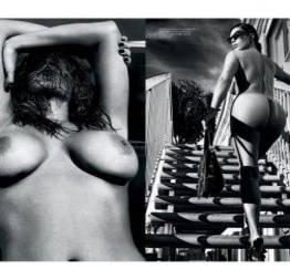 Kim kardashian nua pelada na love magazine