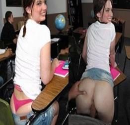 Ninfeta safada dando a buceta dentro da sala de aula