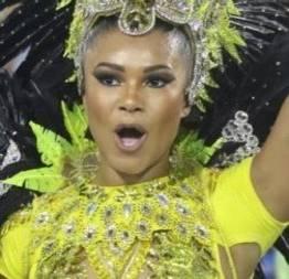 Passista mostra as partes íntimas no carnaval