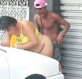 Crackudos transando em rua próxima a crackolandia