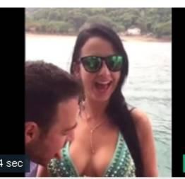 Agradou o gringo na praia e filmaram