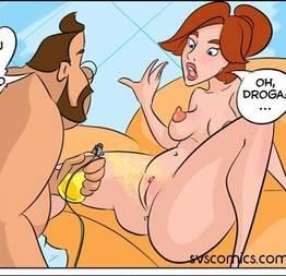 Anastasia se preparando para o barão