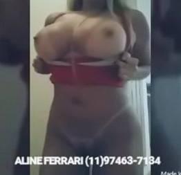 Acompanhante aline ferrari em video sensual de calça justa