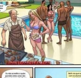 Acervo hentai +18 : festa na piscina