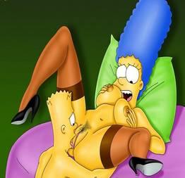 Bart caindo de boca na buceta da mãe
