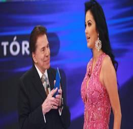 Helen Ganzarolli gostosa do SBT pagando calcinha no palco Silvio Santos