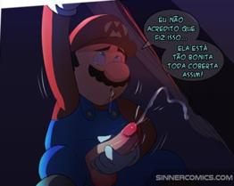 Mario batendo punheta vendo a princesa dando para vários