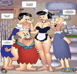 Os Flintstones Hentai quadrinhos eróticos parte 03