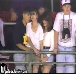 Putaria com a namorada no jogo de beisebol filmaram