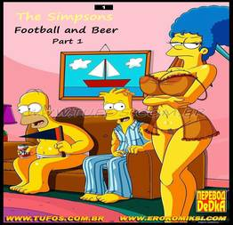 The Simpsons - Football and Beer