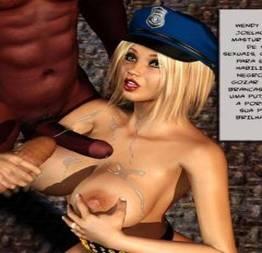 3D quadrinhos porno Loira sendo molestada no presidio