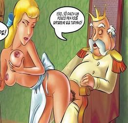 Cinderela em uma versão porno