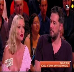 Flagra da gostosa apresentadora da tv francesa pagou peitinhos ao vivo