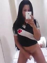 Novinha torcedora do Vasco se masturbando na net