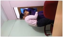 Esposa flagrou o marido com a secretária no escritório