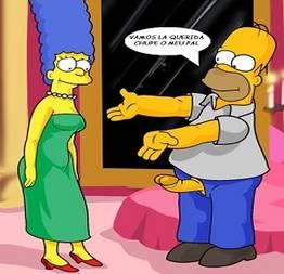 Homer fodendo a Marge com força