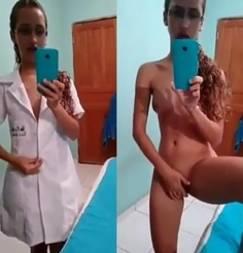 Enfermeira enviou whatsapp errado e caiu na net batendo siririca