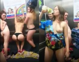 Mulheres bêbadas depois da festa