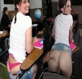 Ninfeta dando a buceta dentro da sala de aula