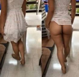 Esposa novinha mostrando a bunda no mercado