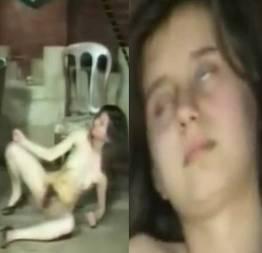 Novinha fica muito bêbada e tenta se masturbar