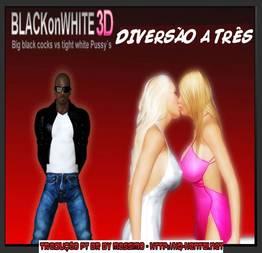 Diversão a três Quadrinho interracial