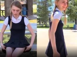 Novinha tirou a calcinha em público
