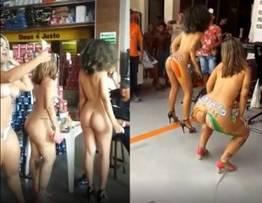 Loja de tintas exibe seu produtos em mulheres nuas