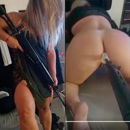 Mari policial federal de mg enfiando fuzil no cuzinho